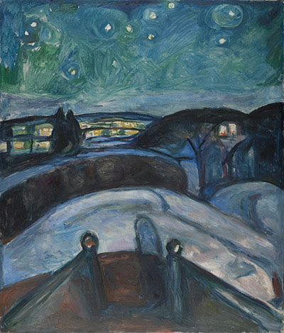 Edvard Munch: Starry Night 1922-1924 , by Edvard Munch