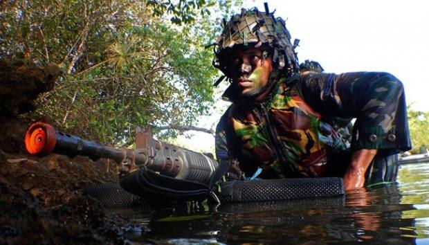 Brigif-1 Marinir Asah Naluri Tempur Pasukan Pendarat Amfibi