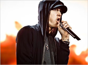 A court has ruled that Eminem's contract gives him 50 percent of the royalties for songs sold online.<br />