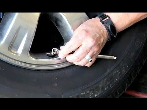 How To Check Tire Pressure And Inflate Tires Youtube