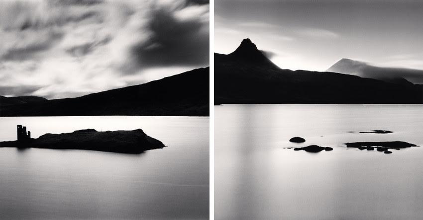 Michael Kenna - arts de la photographie travaux du château Ardvrech pendant des années, Loch Assynt, Sutherland, Ecosse - Stac Pollaidh et Cul Mhor, Loch Bad a Ghaill, Inverpolly, Ecosse 2015