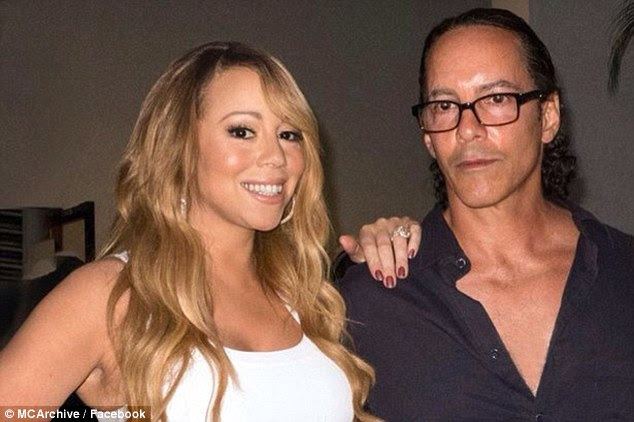 Heartless: Morgan Carey (pictured right, with Mariah) blasting his famous sister for ignoring their family, insisting the superstar believes 'the world revolves around her'