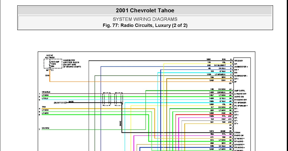26 2001 Chevy Tahoe Radio Wiring Diagram - Wiring Diagram List