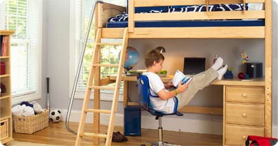 Imagine a bed - way up high