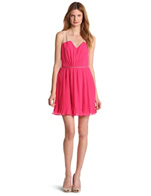 ERIN Erin Fetherston <br/> Chiffon Piped Pleat Dress
