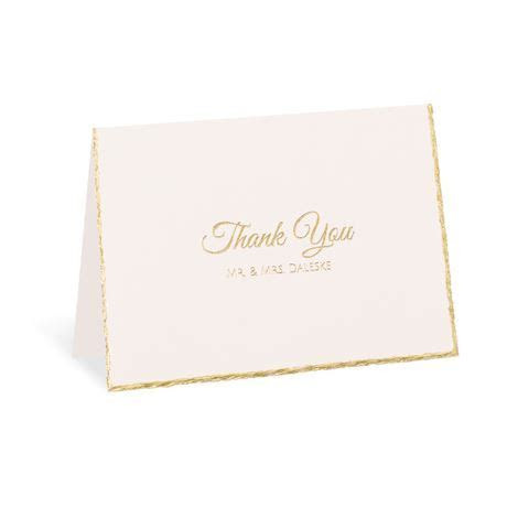 Gold Lining Foil Thank You Card   Invitations By Dawn