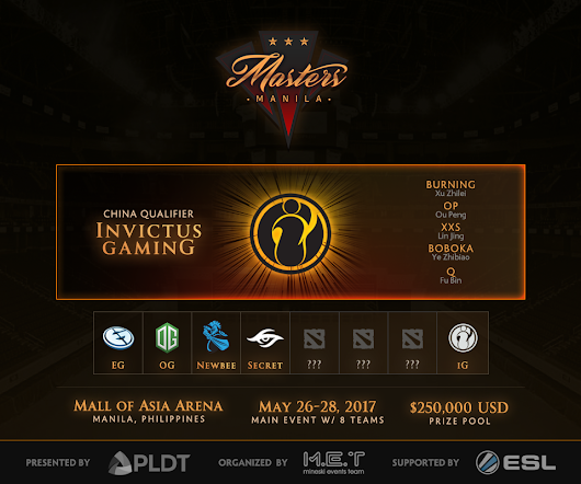 iG – Manila Masters China Qualifiers Champion