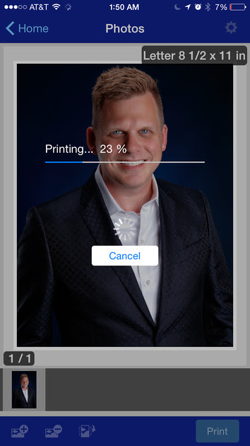 Epson iPrint 5.1.1 on iOS 8.4