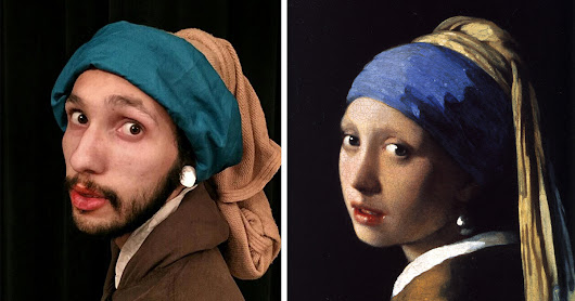 Bored Coworkers Recreate Classic Paintings Using Office Supplies