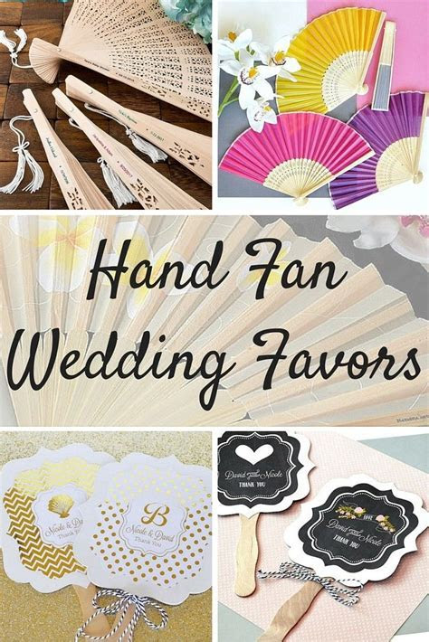 Hand fan favors are a must to keep guests cool during your