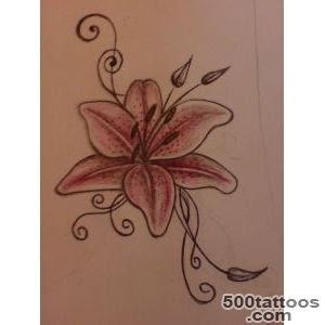 Lily Tattoo Designs Ideas Meanings Images