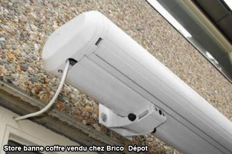 telecommande store banne brico depot