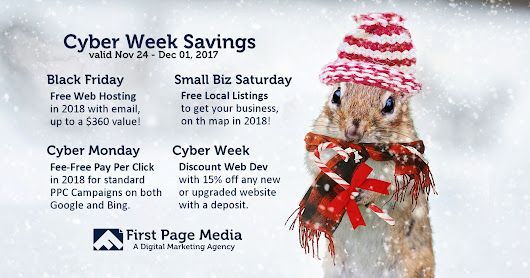 Cyber Week Savings on Web Design, SEO and Internet Marketing