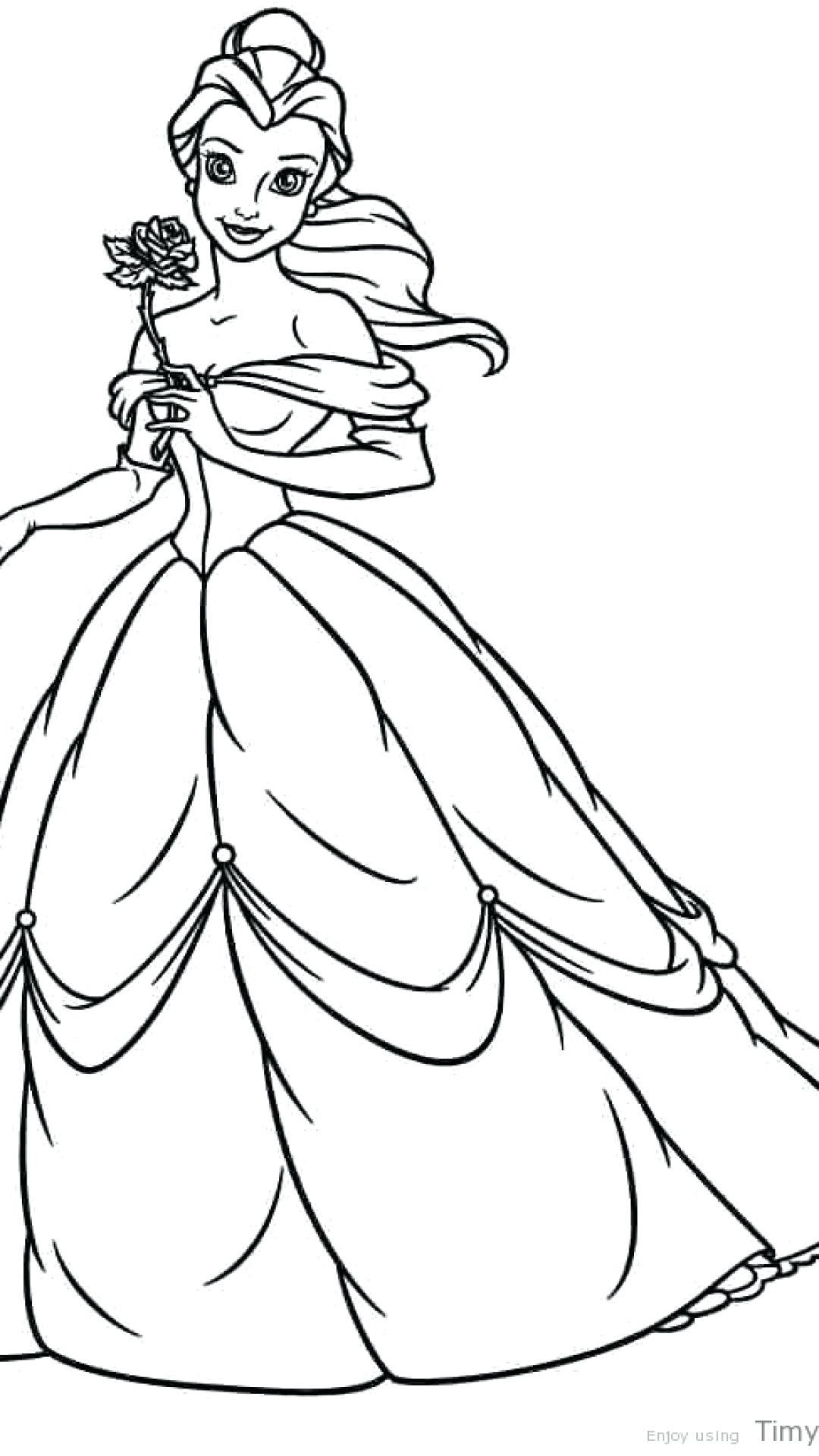 Disney Princess Coloring Pages Belle at GetColorings.com