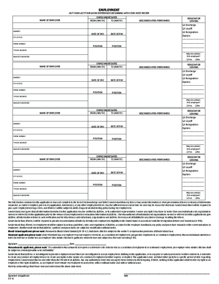 aldi application form l2