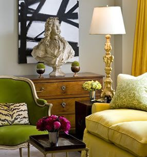 Amazing citrus colors!  Great mix of contemporary and classic.