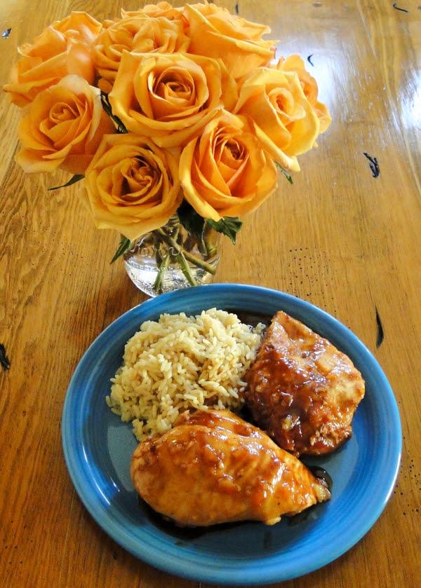 Crockpot Orange Chicken and Rice Recipe from TheFrugalGirls.com