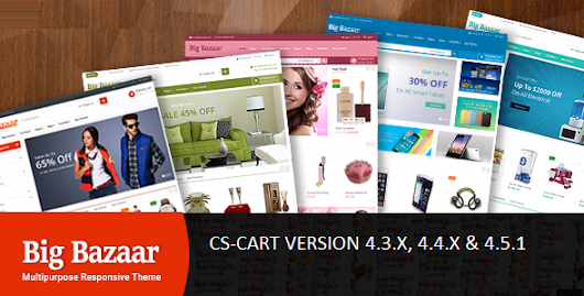 Download BigBazaar - Multipurpose Responsive CS-Cart Theme nulled | OXO-NULLED