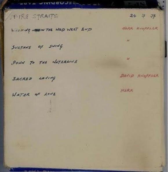 Foto de la cassette de las demos que le dieron a Gillet | foto del propio Charlie Gillett