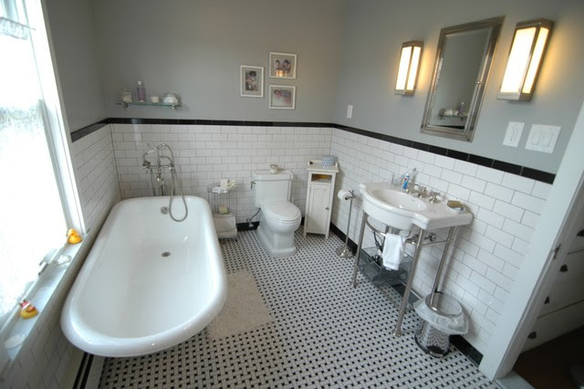 Black and White Bathroom - traditional - bathroom - new york - by ...