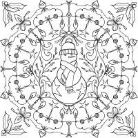Mandala Natalizi Da Colorare