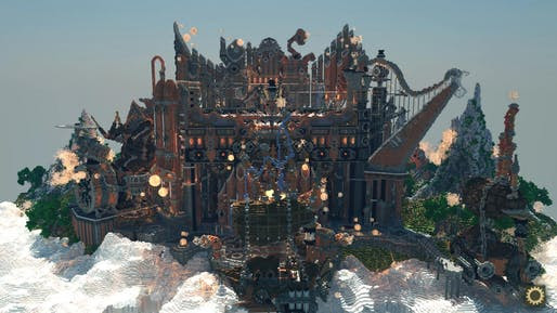This studio illustrates Minecraft's architectural capabilities to create imaginary worlds