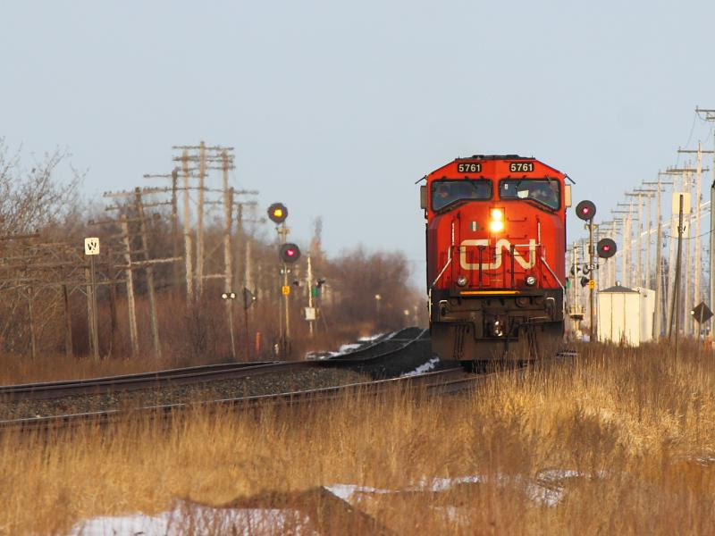 CN 5761 in Winnipeg