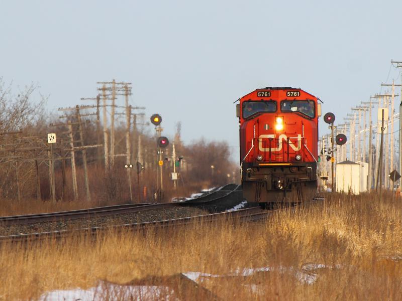 CN 5761 in Winnipeg