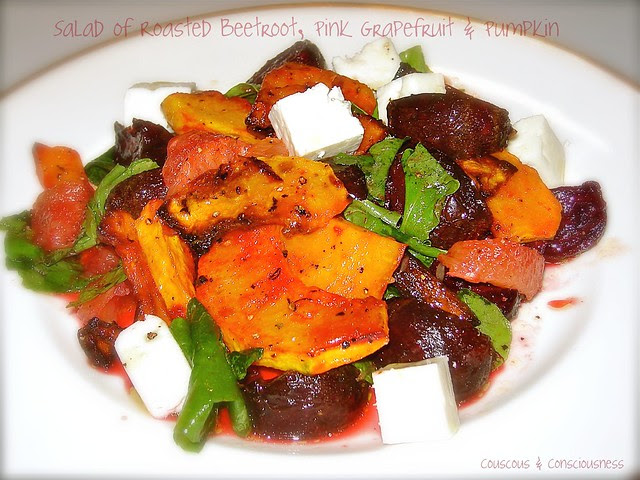 Roasted Beetroot, Pink Grapefruit & Pumpkin Salad 2
