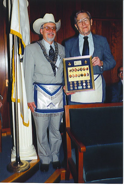 Brother Ted Showing Off His Gift In Lodge