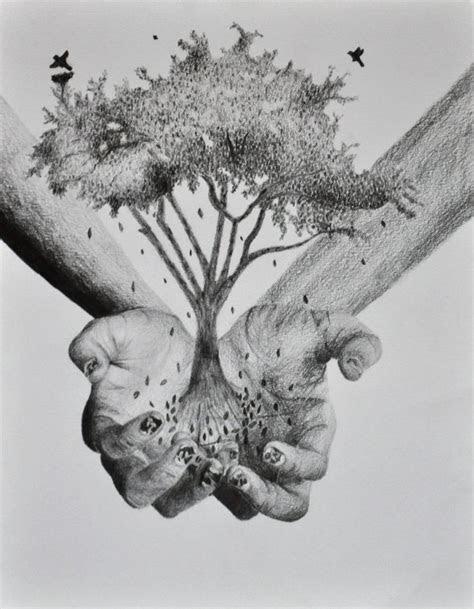 hands holding  tree  sarah  deviantart tats