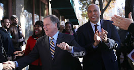 Cory Booker Campaigns for Alabama's Doug Jones, Maybe 2020