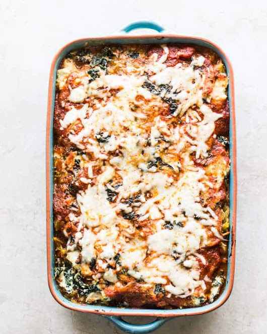 Spaghetti Squash Chicken Lasagna - MJ and Hungryman - Austin, TX Registered Dietitian Nutritionist