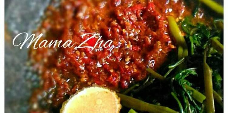 Resep Pelecing Kangkung Oleh Mama Zha