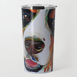 Colorful Bernese Mountain Dog Travel Mug by Colorful Pet Painting - 20 oz