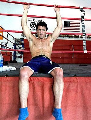 Chael Sonnen no treino do UFC  (Foto: Getty Images)