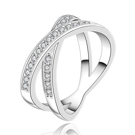 2015 New 925 silver rings Crystals Wedding rings for women