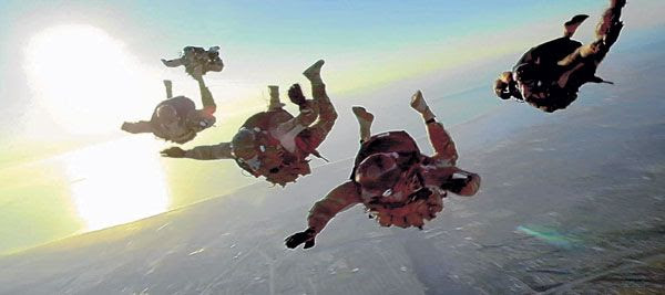 Real-life U.S. Navy SEALs soar in the wild blue yonder in ACT OF VALOR.