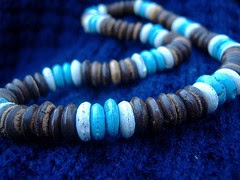 blue brown beads