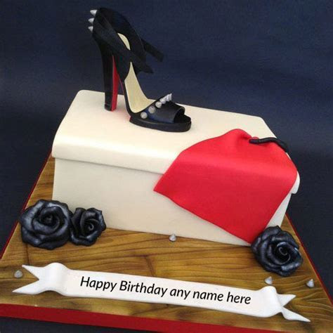 write name on happy birthday wishes cute shoe birthday