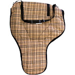 Shenandoah Western Tack HS1103BK Lined Western Saddle Carry Bag Black Plaid