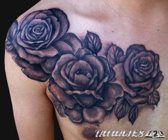 Tatuajes Rosas Negras Amazing Lone Wolftatuaje Rosa Negra Con Tallo