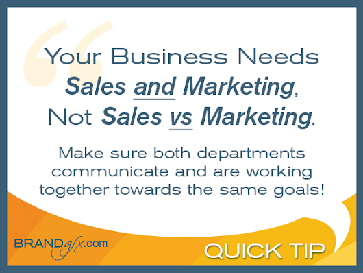 "Preventing a ""Sales Verses Marketing"" Culture 