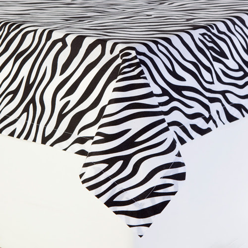Black and White Zebra Print Table Cloths | Animal Prints by Sin in ...