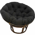 Blazing Needles 44-Inch Solid Twill Papasan Cushion Black