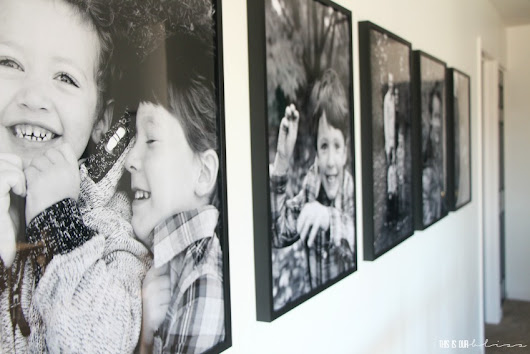 How to Make a Statement Wall with Over-sized Photos | This is our Bliss
