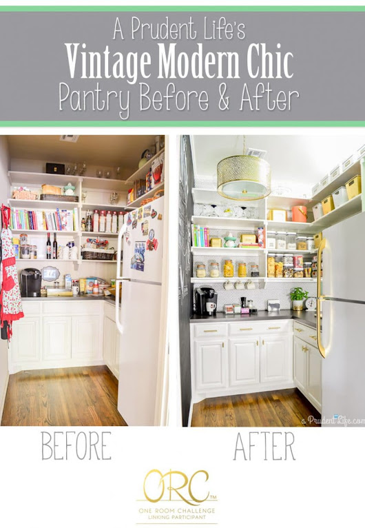 Organized Pantry Reveal {One Room Challenge} - A Prudent Life