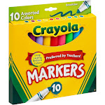 Crayola Broad Line Markers, Assorted - 10 count