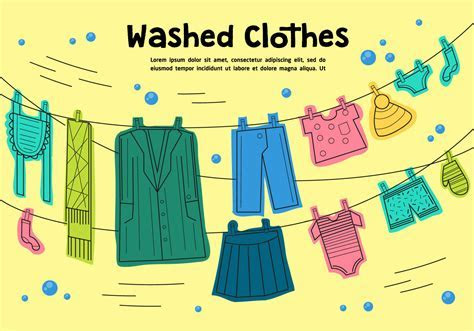 Free Washed Clothes Vector   Download Free Vector Art