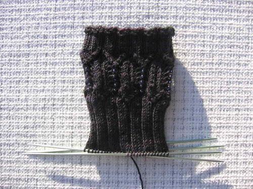 SKA January Mystery Sock in progress